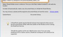 Các bước tạo cấu hình tự động cho việc chia sẻ trên SharePoint của Adobe