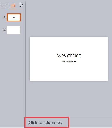 Làm thế nào để thêm ghi chú cho người thuyết trình trong WPS