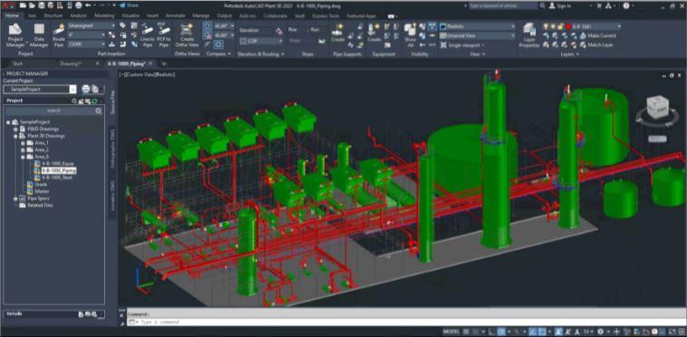 AutoCAD 2022 bộ công cụ plant 3D