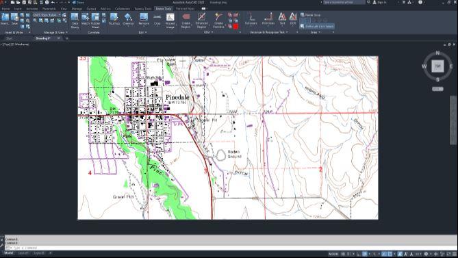 AutoCAD 2022 bộ công cụ thiết kế Raster