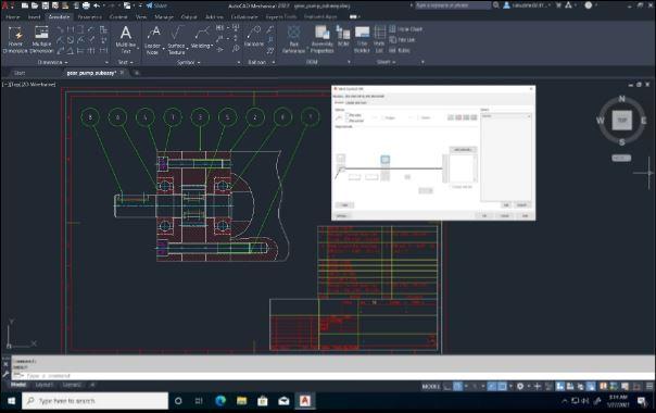 AutoCAD 2022 bộ công cụ cơ khí