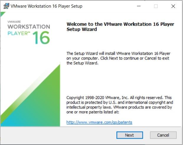Workstation 16 Player 2