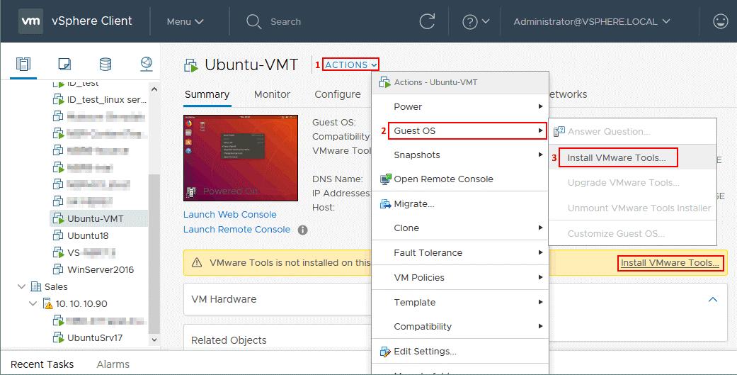VMware Tools - 1