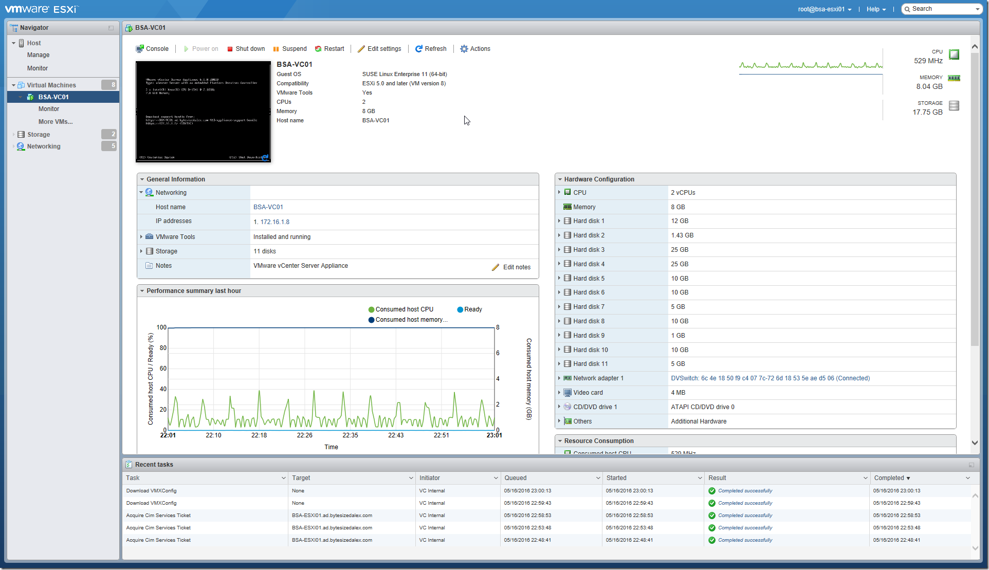 VMware Host Client - 2